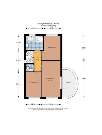 Floorplan - Brueghelstraat 2, 5991 GT Baarlo