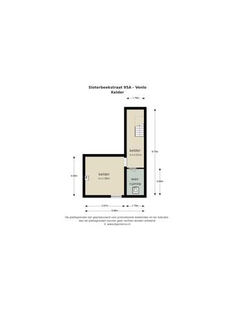 Floorplan - Sloterbeekstraat 95A, 5912 GV Venlo