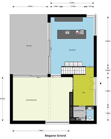 Floorplan - Caspar Franssenlaan 11, 5915 JD Venlo
