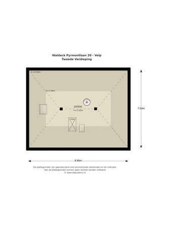 Floorplan - Waldeck Pyrmontlaan 20, 6881 NT Velp