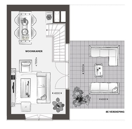 Floorplan - Verhulstplein, 2517 SC Den Haag
