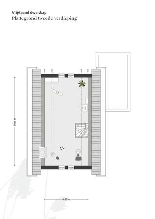 Floorplan - Ambachtsheerenlaan, 3281 KA Numansdorp