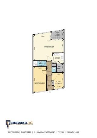 Floorplan - Grote Beer 123, 3067 TR Rotterdam