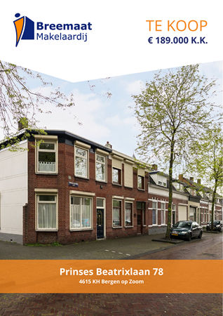 Brochure preview - Prinses Beatrixlaan 78, 4615 KH BERGEN OP ZOOM (2)
