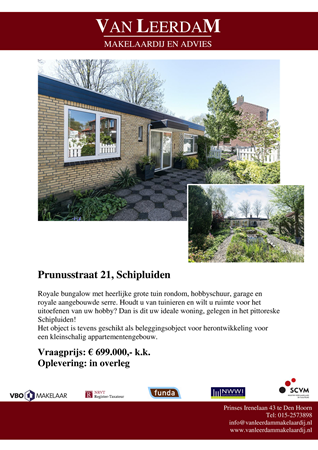 Brochure preview - brochure prunusstraat 21 te schipluiden