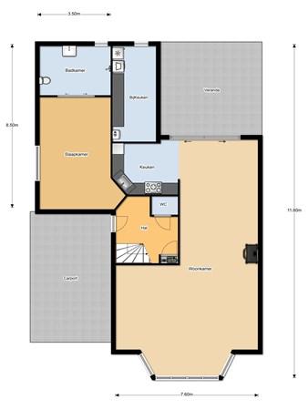 Floorplan - Drachme 37, 8253 EW Dronten