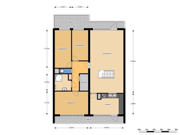 Floorplan - De Brink 1096, 2553 HZ Den Haag