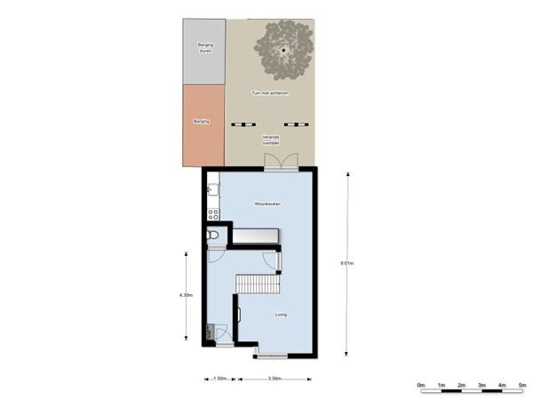 Floorplan - Populierendreef 156, 3137 CW Vlaardingen