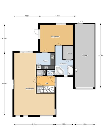 Floorplan - Eikenhorst 10, 8424 ST Elsloo