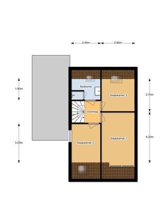 Floorplan - Stienpad 23, 8388 MC Oosterstreek