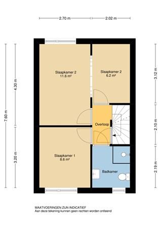 Floorplan - Blokweerweg 85, 2954 PC Alblasserdam
