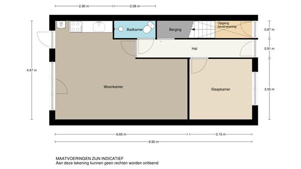 Floorplan - Bilderdijkstraat 41A, 3117 PB Schiedam