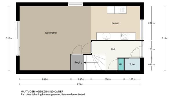 Floorplan - Kraanbaan 15, 2951 JG Alblasserdam