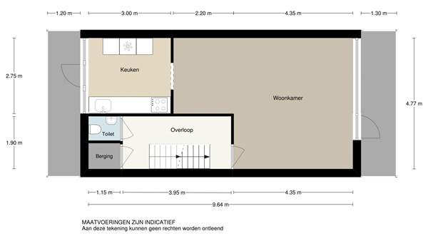 Floorplan - Vondellaan 2, 2951 TS Alblasserdam