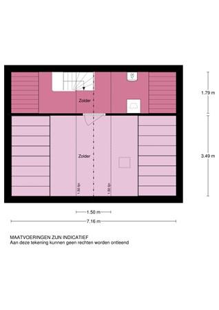 Floorplan - Resedastraat 70, 2951 BX Alblasserdam