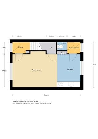 Floorplan - Cornelis Smitstraat 56, 2951 AC Alblasserdam