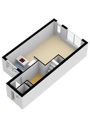 Floorplan - De Boomgaard 15, 2969 CC Oud-Alblas
