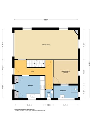 Floorplan - Veerdam 48, 2961 AZ Kinderdijk