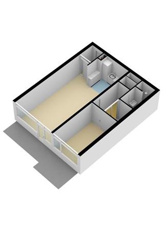 Floorplan - Sterrenburgplein 81, 3318 JV Dordrecht