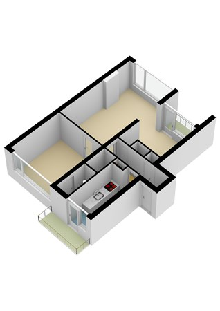 Floorplan - Rijnstraat 29D, 2953 ET Alblasserdam