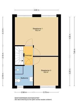 Floorplan - Blokweerweg 79, 2954 PC Alblasserdam