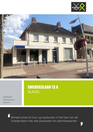 Brochure preview - Sniederslaan 13-A, 5531 EG BLADEL (1)