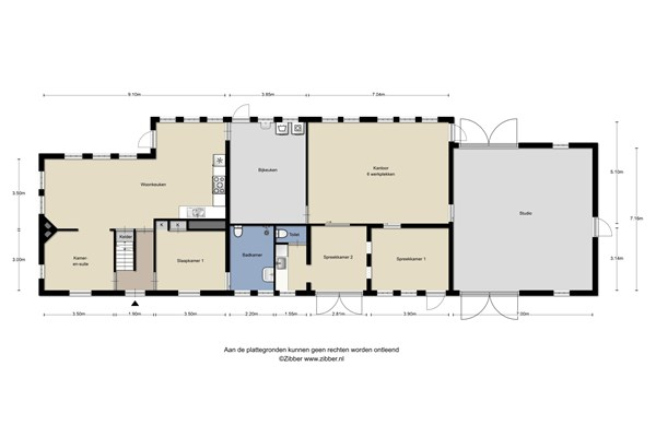 Floorplan - Castersedijk 23, 5527 JR Hapert