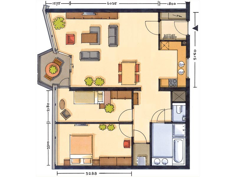 floorplan 2bed