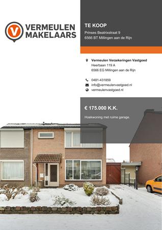 Brochure preview - Prinses Beatrixstraat 9, 6566 BT MILLINGEN AAN DE RIJN (1)