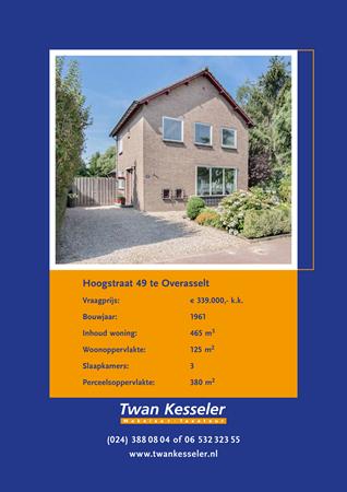 Brochure preview - overasselt hoogstraat 49 brochure