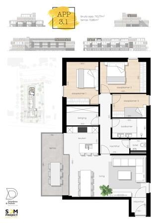 Floorplan - De Hoeven 31-3.1, 3550 Heusden-Zolder