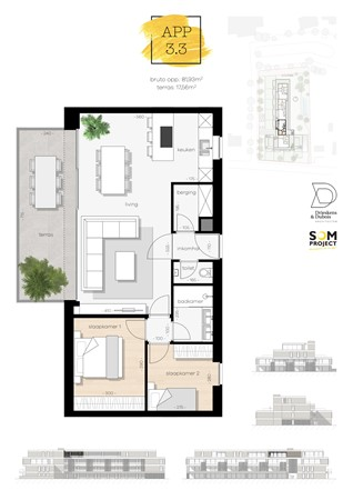 Floorplan - De Hoeven 31-3.3, 3550 Heusden-Zolder