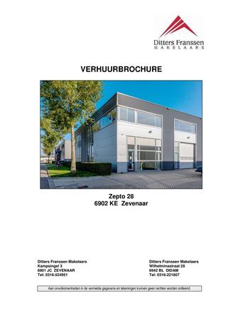 Brochure - brochure Zepto 28 te Zevenaar.pdf - Zepto 28, 6902 KE Zevenaar