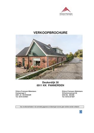 Brochure preview - brochure deukerdijk 30 te pannerden