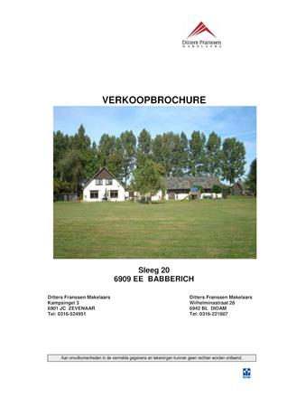 Brochure preview - brochure sleeg 20 te babberich