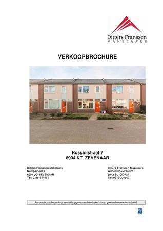 Brochure preview - brochure rossinistraat 7 te zevenaar