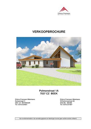 Brochure preview - brochure polmanstraat 1a te beek