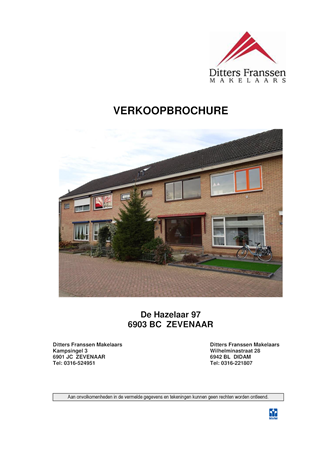 Brochure preview - brochure de hazelaar 97 te zevenaar