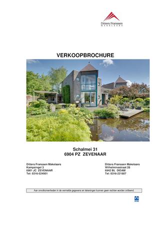 Brochure preview - brochure schalmei 31 te zevenaar