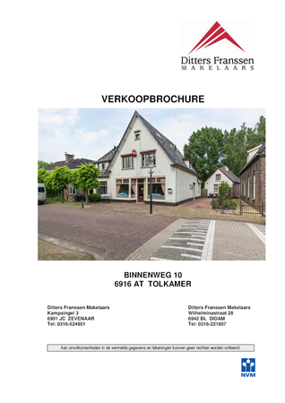 Brochure preview - brochure binnenweg 10 te tolkamer wonen