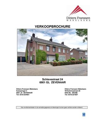 Brochure preview - brochure schievestraat 24 te zevenaar