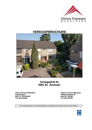 Brochure preview - brochure schaapsdrift 93 zevenaar