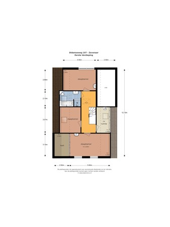 Floorplan - Didamseweg 107, 6902 PD Zevenaar