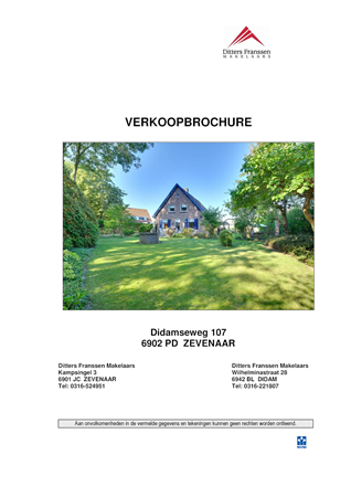 Brochure preview - brochure didamseweg 107 te zevenaar