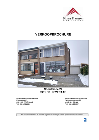 Brochure preview - brochure noordeinde 24 te zevenaar