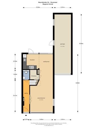 Floorplan - Noordeinde 24, 6901 EB Zevenaar