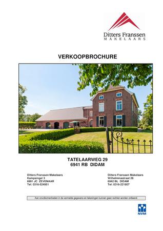 Brochure preview - brochure tatelaarweg 29 te didam