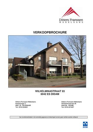 Brochure preview - brochure wilhelminastraat 93 te didam