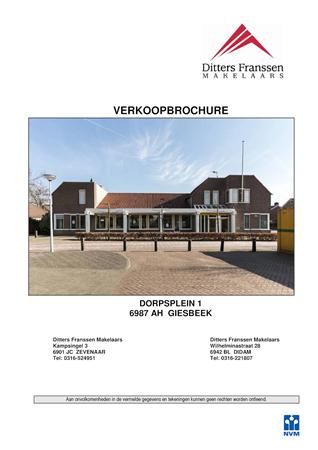 Brochure preview - brochure dorpsplein 1 te giesbeek