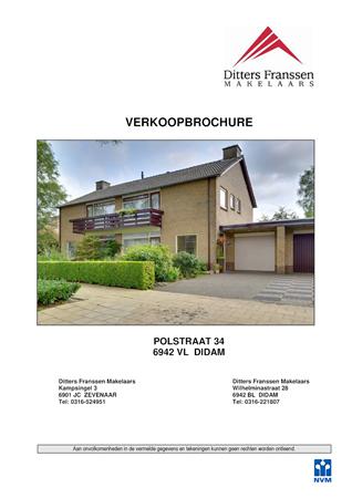 Brochure preview - brochure polstraat 34 te didam
